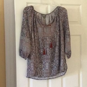 NWT Natural Reflections Top: Size Large
